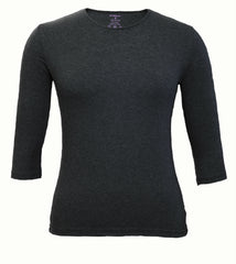 Women's Shell, Charcoal Gray-3/4 Sleeve