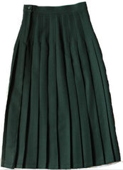Junior High High School Green Knife Pleated Skirt