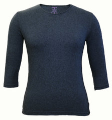 Girl's Shell, Navy-3/4 Sleeve