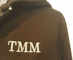 Black Cotton Hooded Sweatshirt for High School With TMM Logo