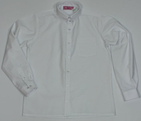 E.S. White Oxford Blouse-Big Girls Straight Hem