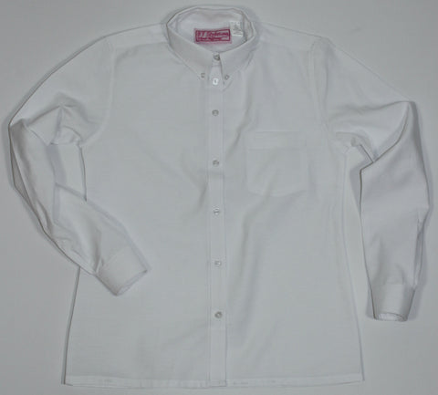 E.S. White Oxford Blouse-Straight Hem