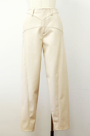ECO LEATHER TAPERED TROUSERS