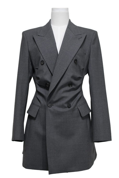 Gathered tailored jacket