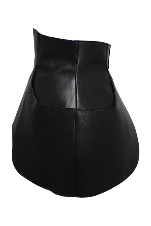 Circle cut leather apron