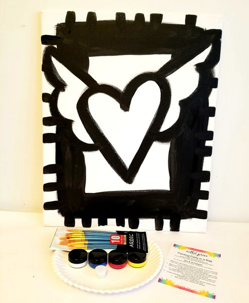 Sparkling Art Painting Party in a Box Heart of Hope 16x20 Canvas