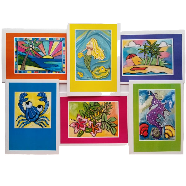 SeaLife Collection FrameIt! ArtCard Set of 6 with Envelopes A7