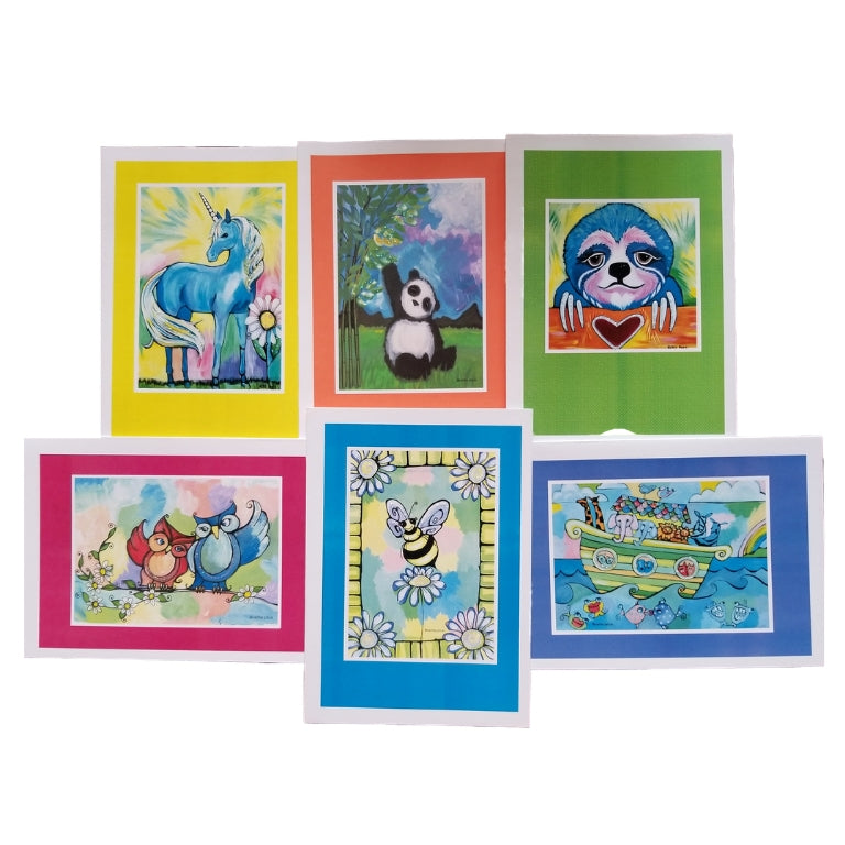 Animal Collection FrameIt! ArtCard Set of 6 with Envelopes A7