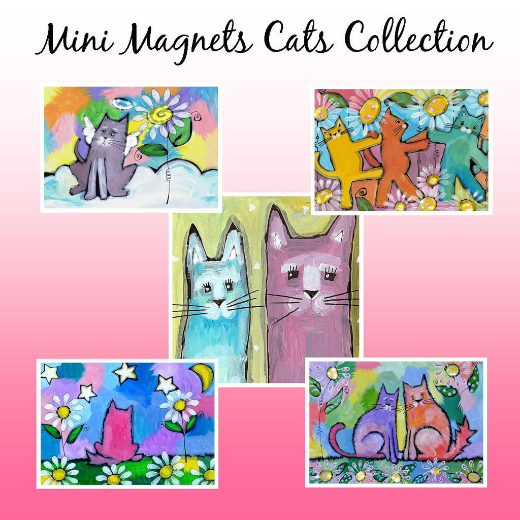 Mini Magnets Cat Collection