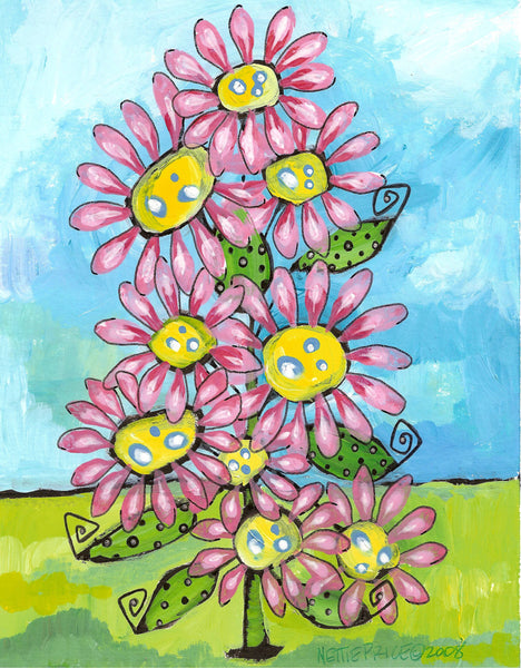 Daisy Tree Too Sparkling Art Print