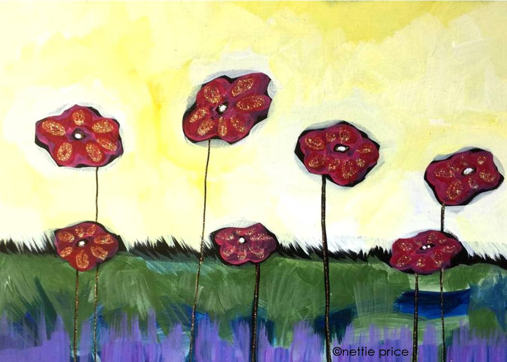 Field of Poppies Sparkling Art Print