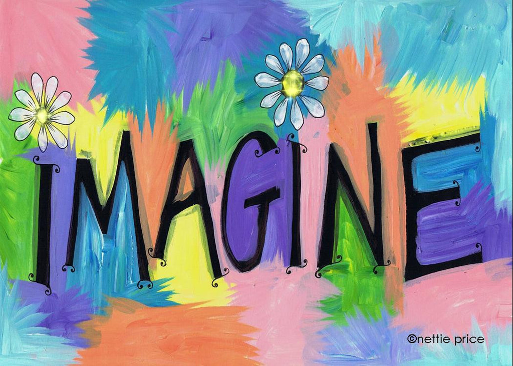 Imagine Daisies Sparkling Art Print
