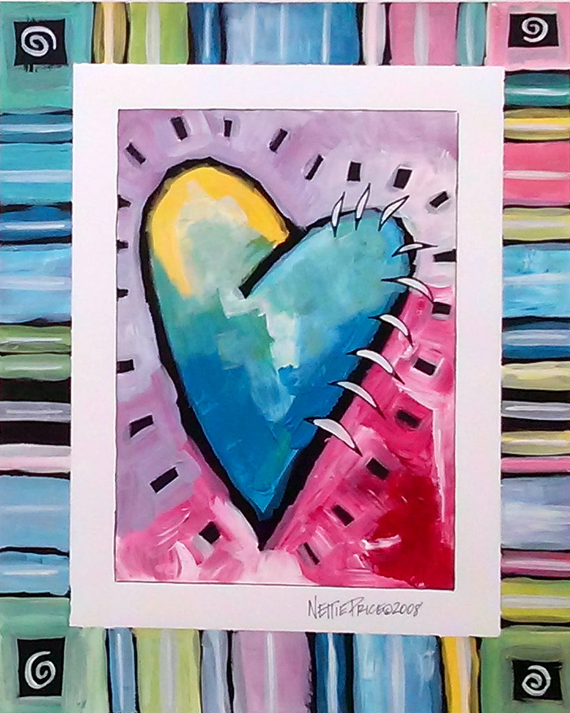 Jagged Heart Sparkling Art Print