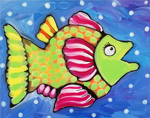 Palm Coast Fish 3 Original Acrylic Painting by Nettie Price