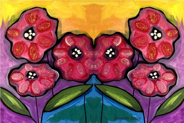 Six Poppies Sparkling Art Print