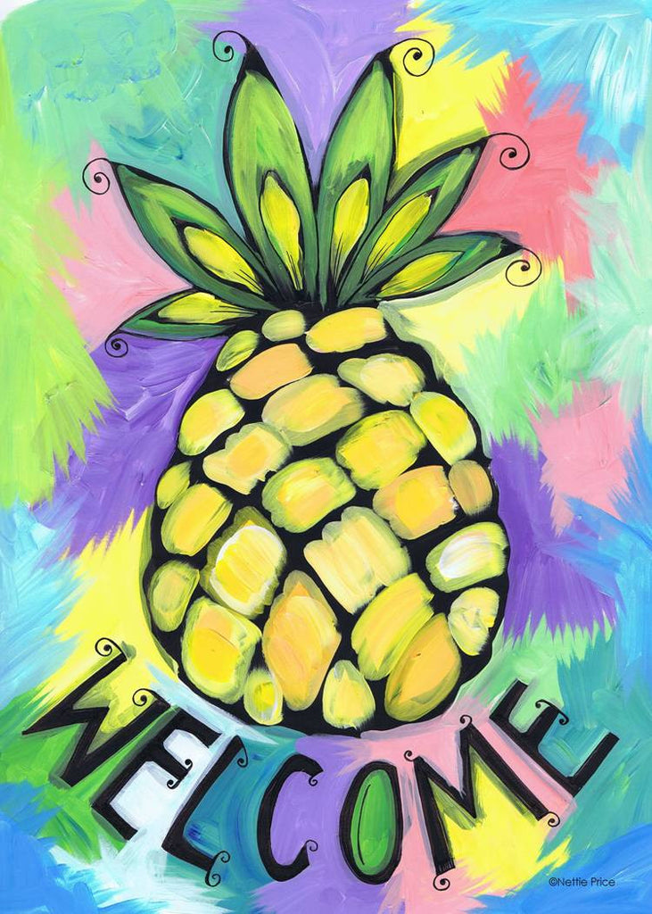 Welcome Pineapple Sparkling Art Print