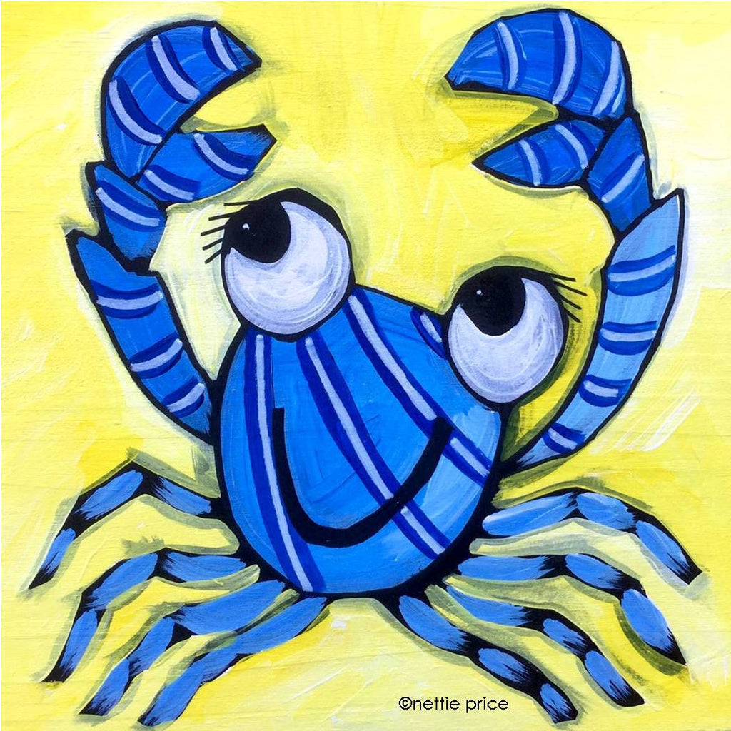 Blue Crab Sparkling Art Print