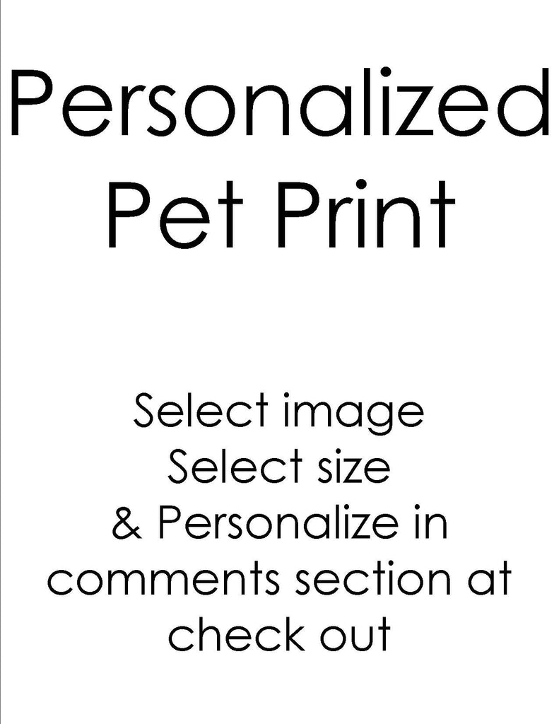 Personalized Pet Print Sparkling Art