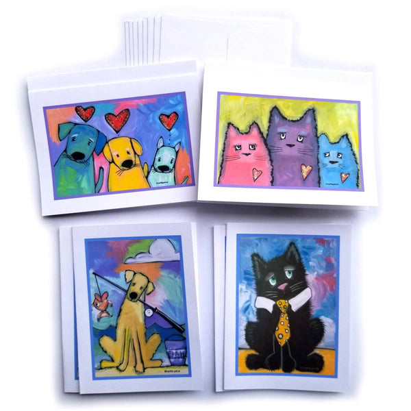 Pet Notes & Envelopes Cats & Dogs