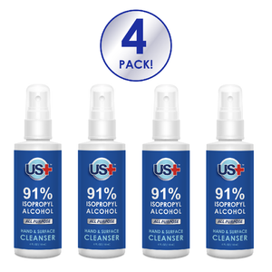 4 oz Disinfectant Spray, <br> 91% Isopropyl Alcohol (4-pack)