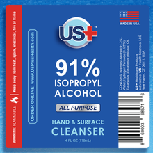 Load image into Gallery viewer, 4 oz Disinfectant Spray, <br> 91% Isopropyl Alcohol (4-pack)