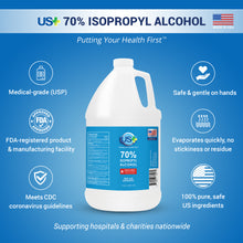 Load image into Gallery viewer, 4 Gallons US+ 70% Isopropyl Alcohol Bulk (1 Gallon x 4) - USP/Medical Grade