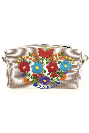 Embroidered Powder Bag