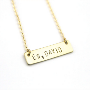 Brass Nameplate Necklace