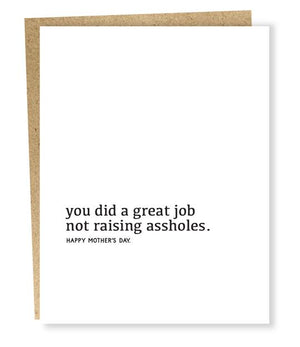 You Did A Great Job Card | Mother's Day