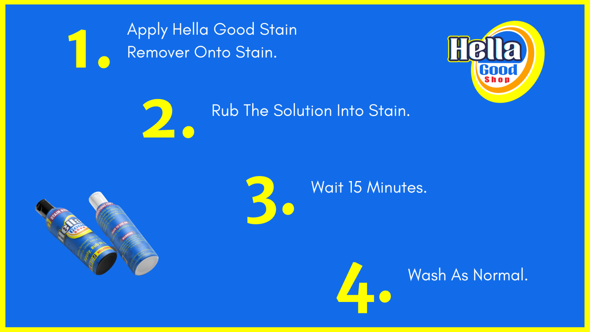 Easy to use stain remover