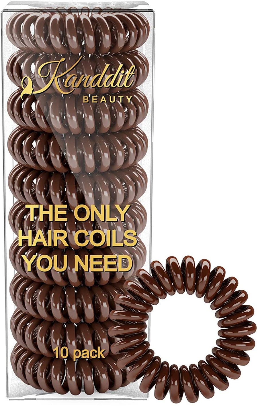 10 Kanddit Beauty™ Spiral Hair Bands Various Colours To Choose From