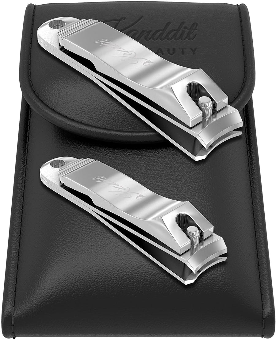 Kanddit Beauty™ Nail Clippers Set With Amazing Crystal Nail File | Etched Double Sided | Perfect for Men & Women Makes A Great Gift