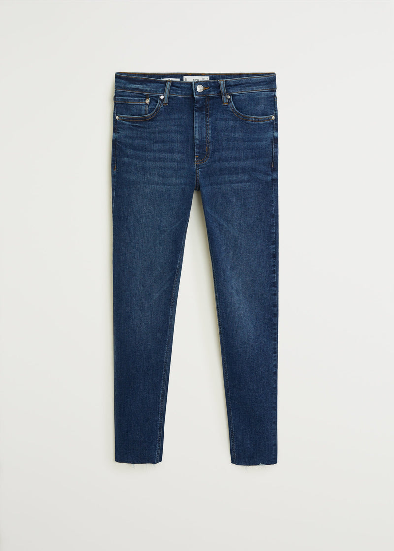 MNG Jeans Skinny Crop Isa - Tejano Oscuro