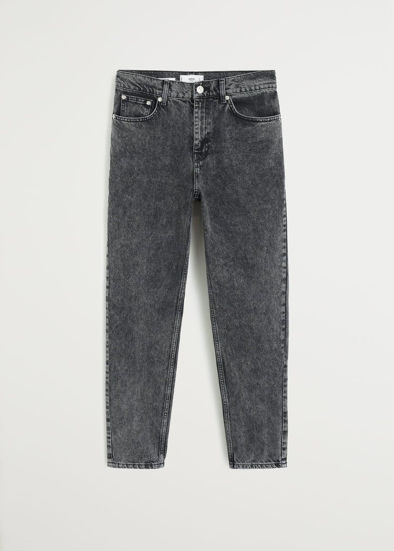 MNG Jeans Mom - Negro