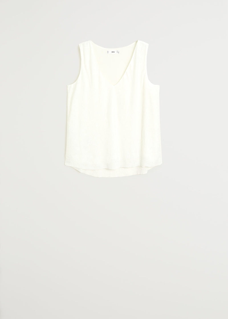 MNG Top Textura - Off White