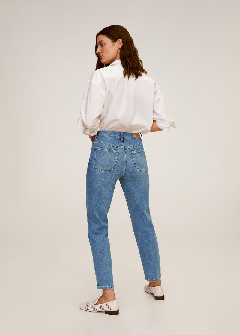 MNG Jeans Mom-Fit - Tejano Medio