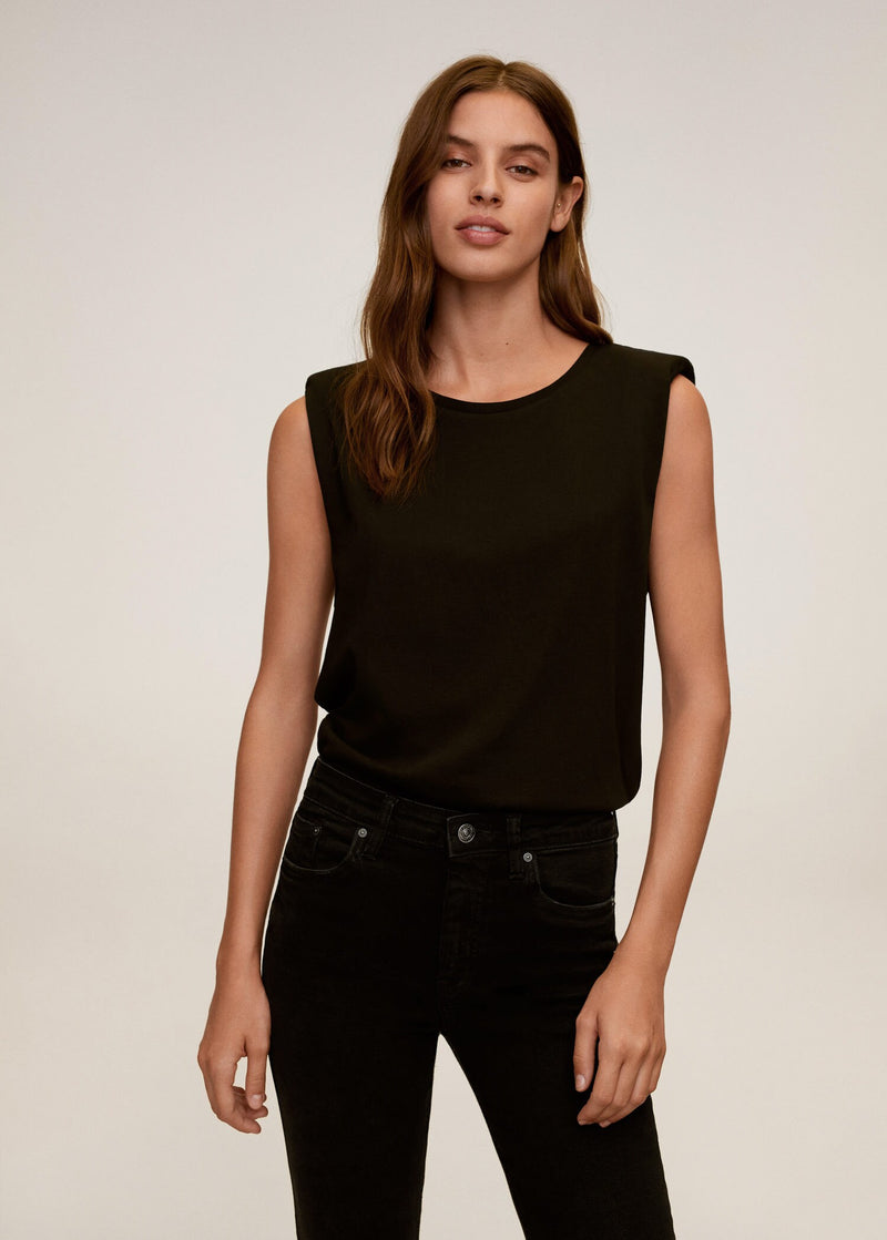 MNG Jeans Skinny Crop Isa - Tejano Negro