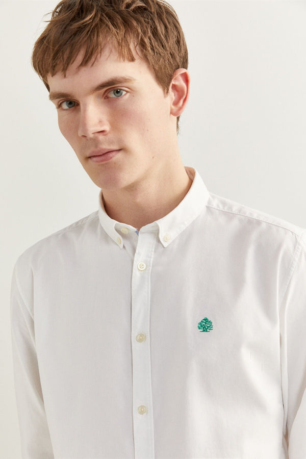 Camisa Sport Pinpoint-Blanco