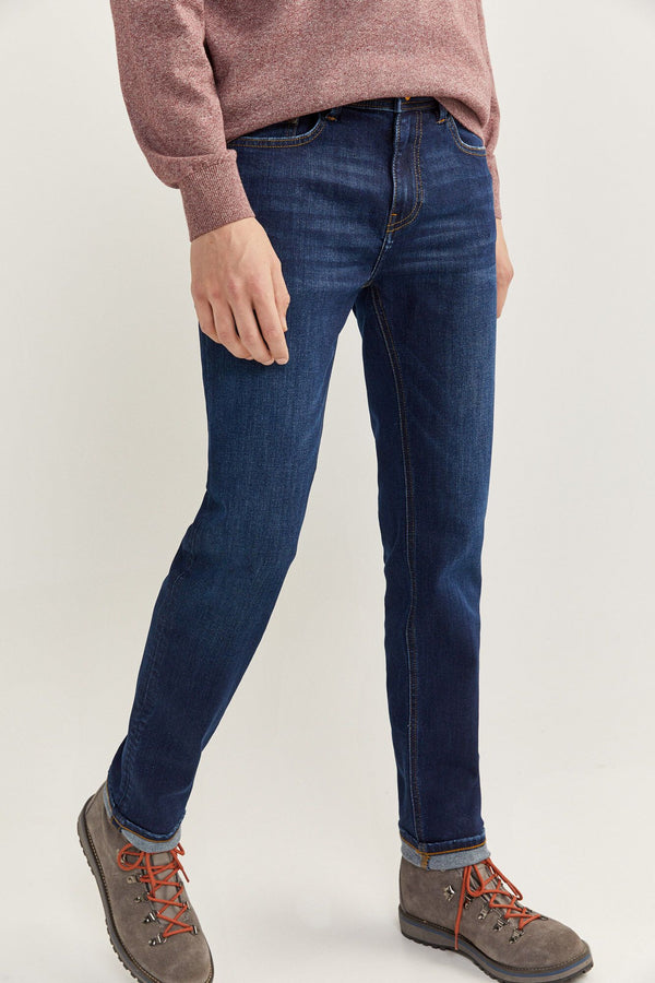 Jeans Skinny Medio Oscuro-Gama Azules