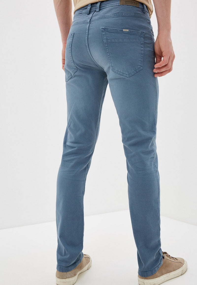 Pantalón Slim Wash Stretch-Gama Azules