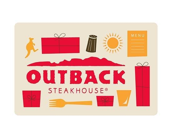 Gift Cards Físicos Outback Steakhouse