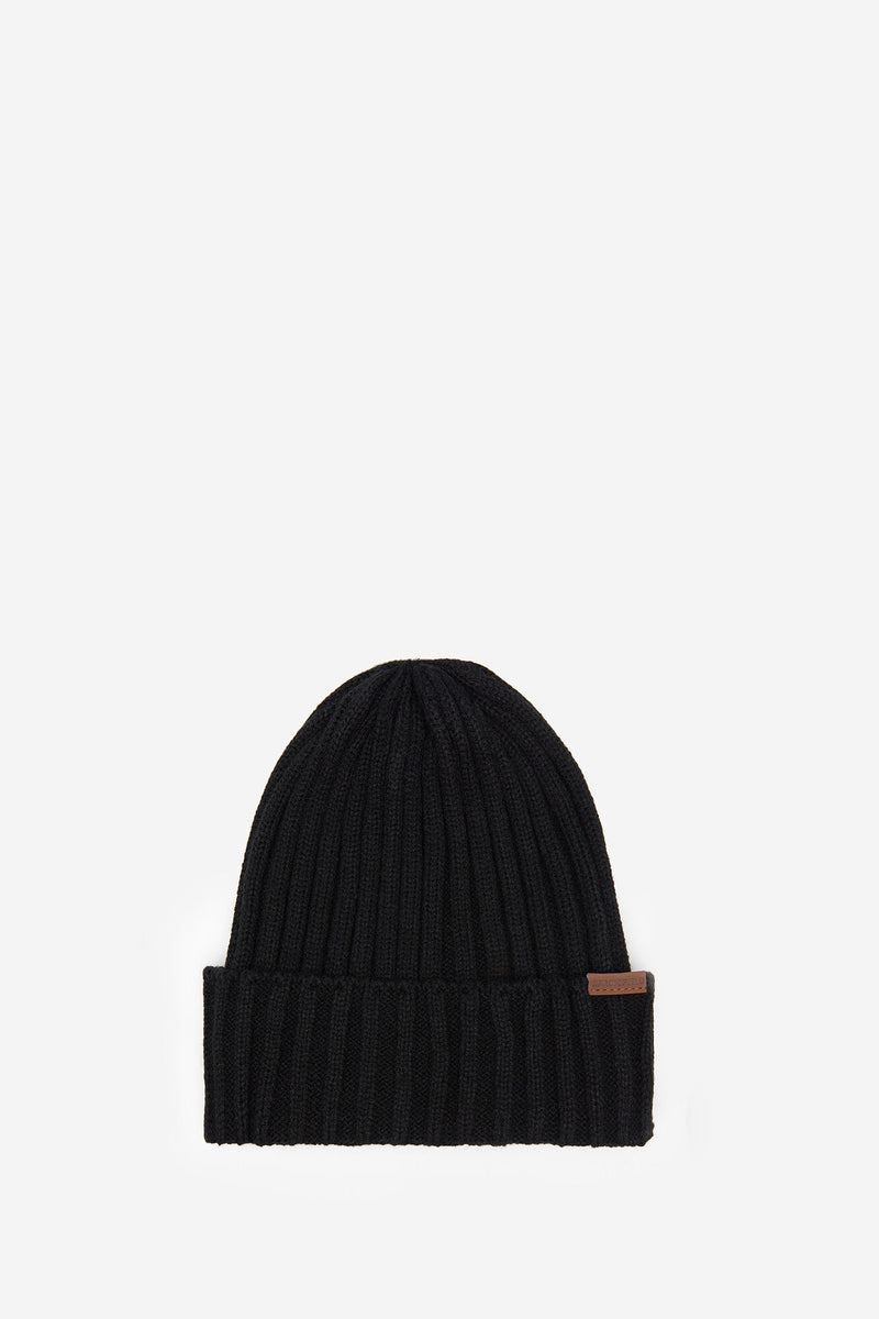 SPF Ribbed Knitted Hat - Negro