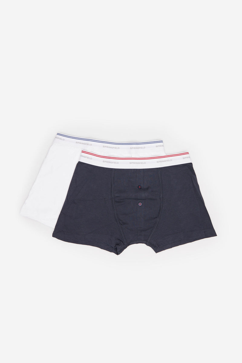 SPF Pack 2 Boxers Basicos - Azul Oscuro