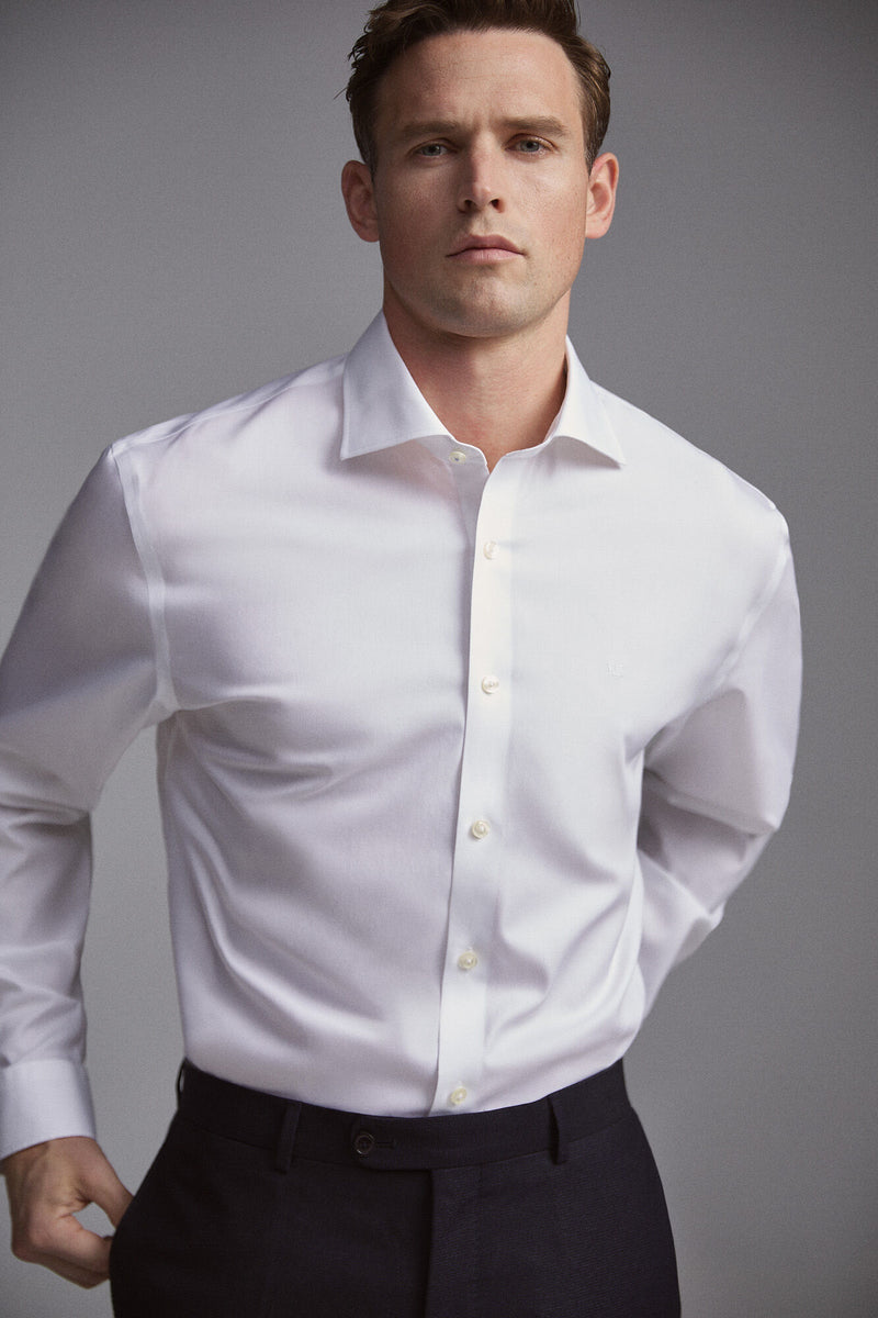 PdH Camisa De Vestir Tech-Non Iron Lisa Tailored - Blanco