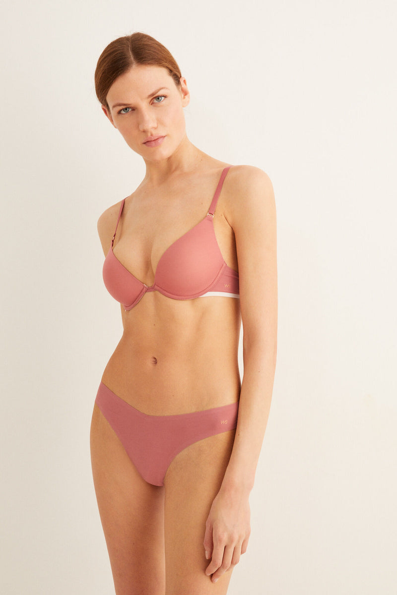 WS Sujetador Push Up Supersoft - Rosa