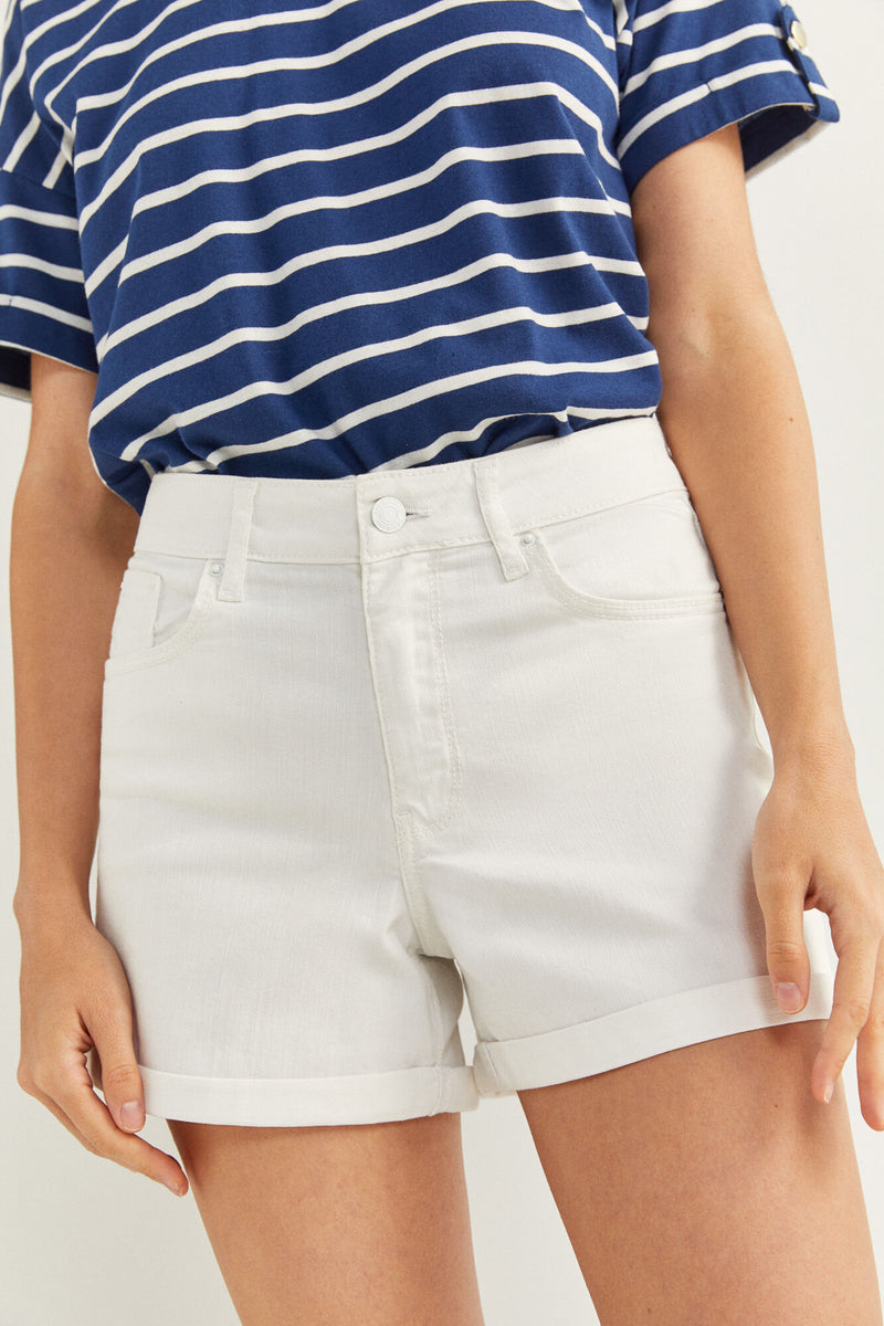 SPF Short Denim Color - Blanco