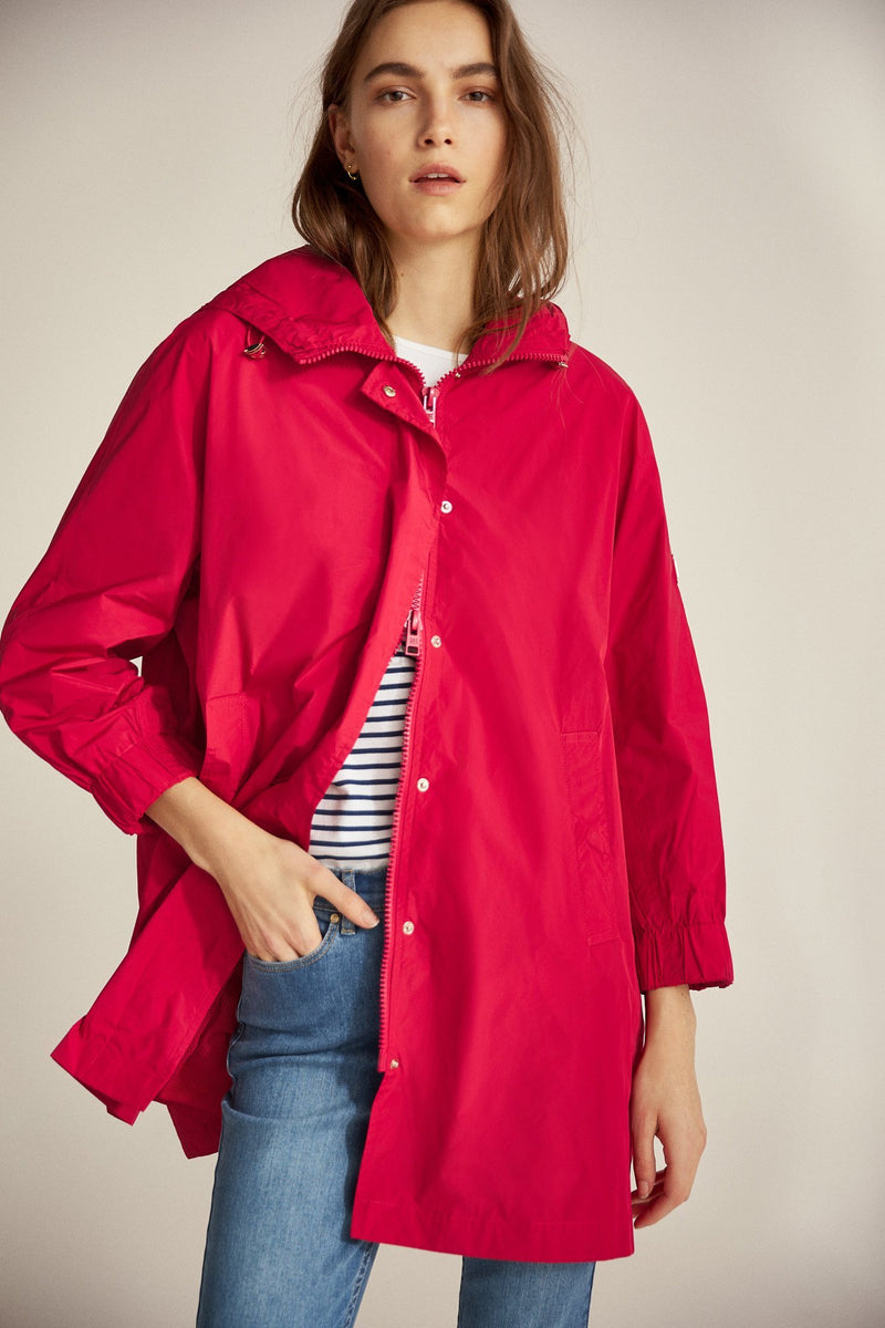 PdH Parka Oversize Memory Capucha - Rojo/Coral