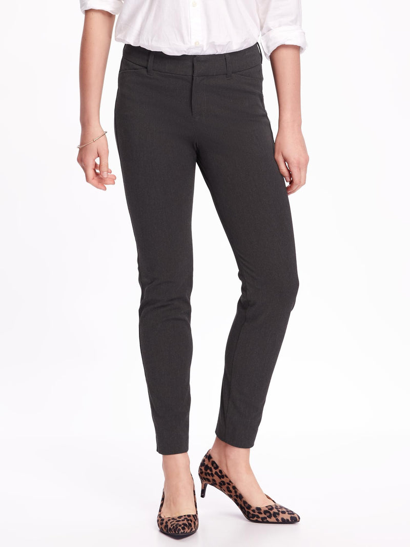 ON Pantalón Mid-Rise Heathered Pixie Ankle Pants for Women - Dark Med Gris Heather