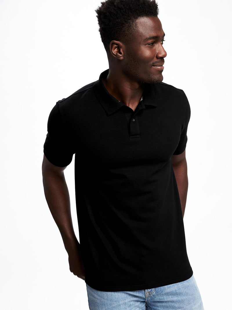 ON Moisture-Wicking Pro Polo For Men - Negro Jack
