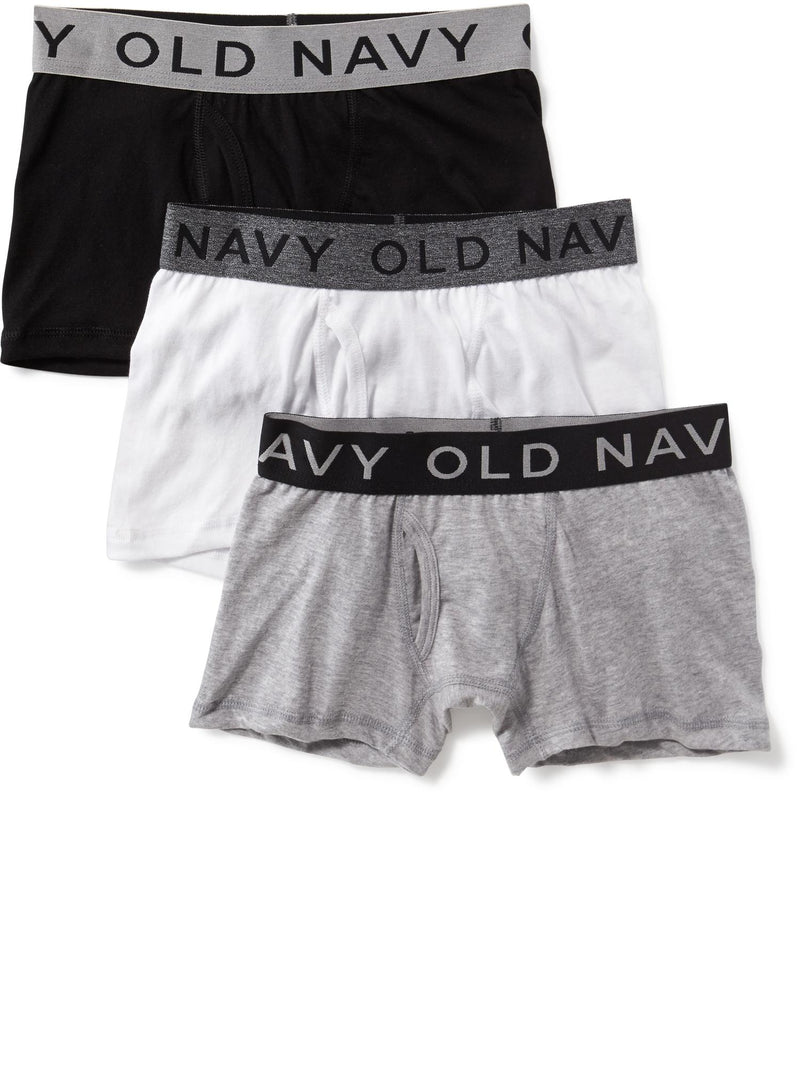 ON Boxer-Briefs 3-Pack for Boys - Negro Combo